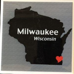 Milwaukee Wisconsin Heart Coaster