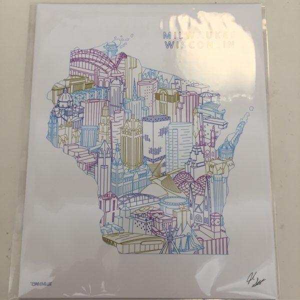 Milwaukee Wisconsin 8×10 Map Print