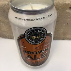 Brown Ale City Lights Brewing Beer Candle