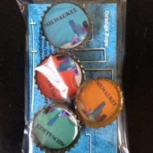 Milwaukee Skyline Bottlecap Magnet
