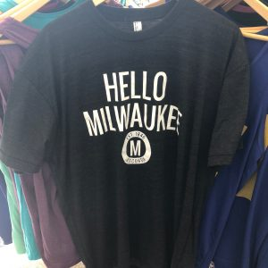 Hello Milwaukee T-Shirt – White on Charcoal