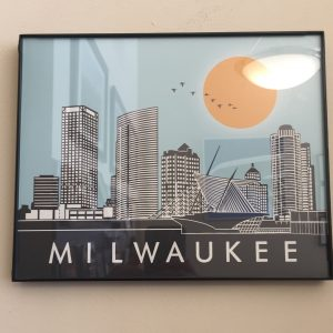 Milwaukee Skyline Framed Print