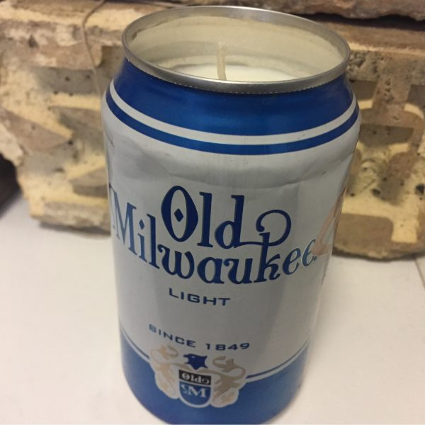 Old Milwaukee Light Can Candle