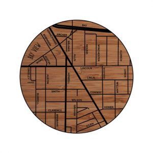 Bay View Neighborhood Wood Coaster
