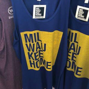 Milwaukee Home Unisex Tank Top – Yellow on Blue