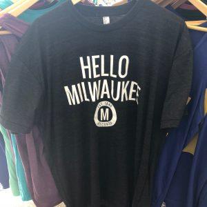 Hello Milwaukee T-Shirt – White on Charcoal