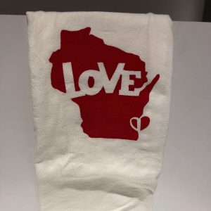 Wisconsin Love Tea Towel