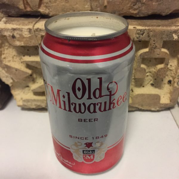 Old Milwaukee Can Candle