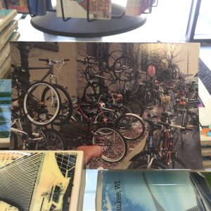 Hanging Bikes Postcard
