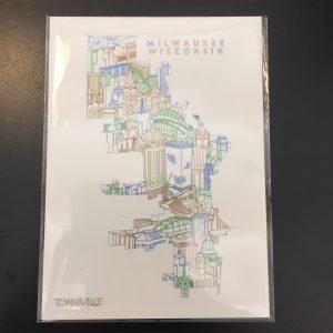 Milwaukee Map Magnet