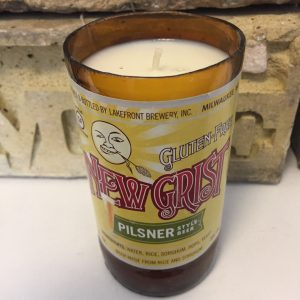 Lakefront New Grist Beer Bottle Candle