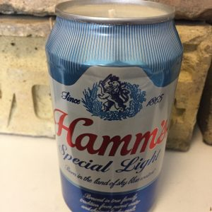 Hamm's Special Light Can Candle