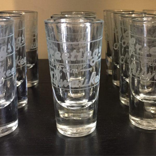 Greetings From Milwaukee Shot Glass