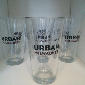 Urban Milwaukee Pint Glass