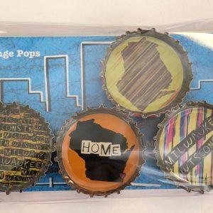 Milwaukee Wisconsin Home Bottlecap Magnets