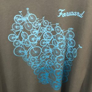 Forward Wisconsin T-Shirt – Light Blue on Gray