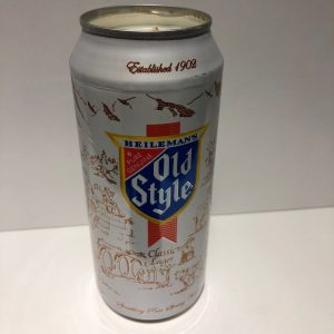 Heileman's Old Style Tall Boy Can Candle