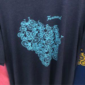 Forward Wisconsin T-Shirt – Light Blue on Blue