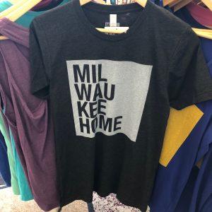 Milwaukee Home T-Shirt – White on Charcoal