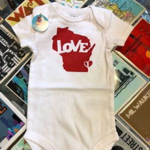 Variation #1787 of Wisconsin Love Onesie