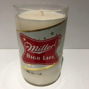 Miller High Life Bottle Candle – Red