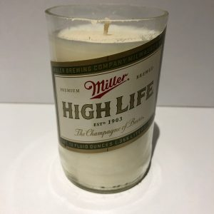 Miller High Life Bottle Candle