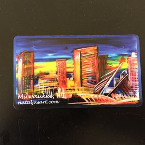 Milwaukee Skyline Magnet – Natalja's Art