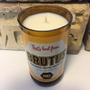 Milwaukee Brewing Co. Brutus Bottle Candle