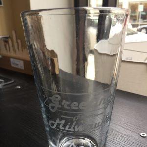 Greetings From Milwaukee Pint Glass