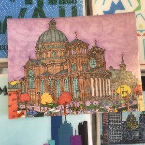 St. Joseph's Bascilica Postcard – John O'Neil Drawing