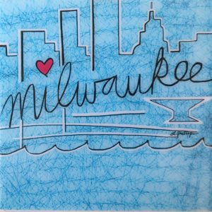 Blue Milwaukee Skyline Coaster