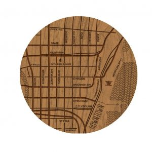 Downtown Neighborhood Map Coaster