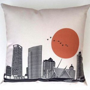 Milwaukee Skyline Pillow