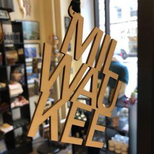 Milwaukee Wood Letters Ornament