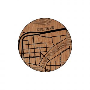 Historic Third Ward Neighborhood Map Coaster
