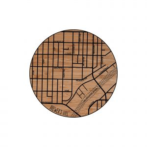 Brewers Hill Neighborhood Map Coaster