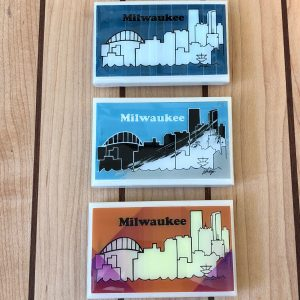 Milwaukee Skyline Handmade Magnet