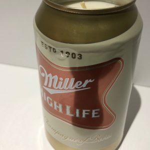 Miller High Life Can Candle