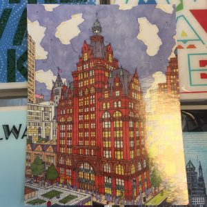 Pabst Building Postcard – John O'Neil Drawing