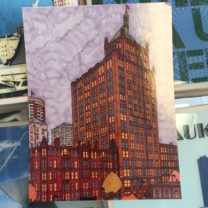 Wisconsin Bell Building Postcard – John O'Neil Drawing