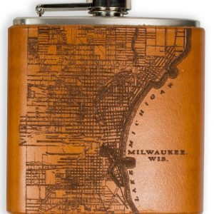 Milwaukee Map Flask
