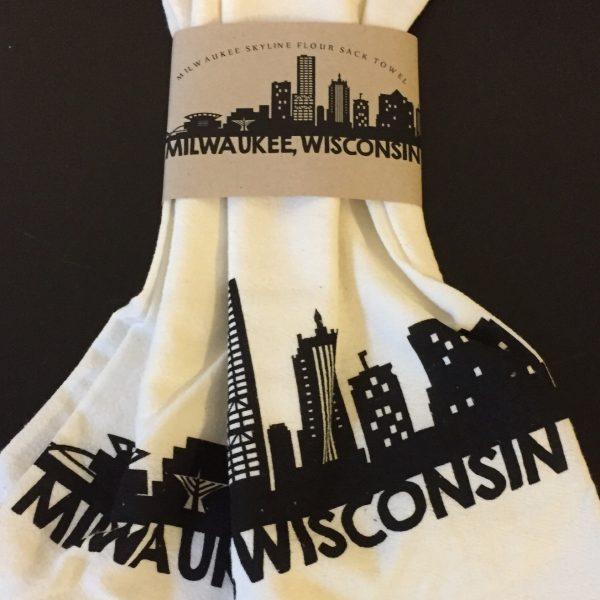 Milwaukee Skyline Flour Sack Towel