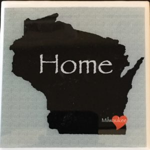 Wisconsin Home Heart Coaster