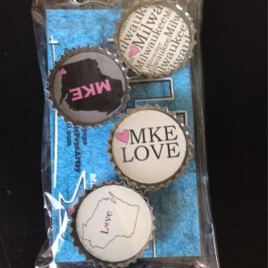 Love Milwaukee Bottlecap Magnet