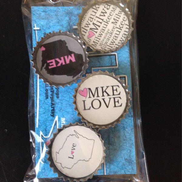 Love Milwaukee Bottlecap Magnet