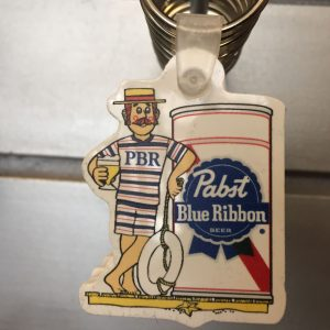 Pabst Blue Ribbon Lifeguard Keychain