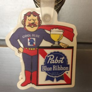Pabst Blue Ribbon Hero Keychain