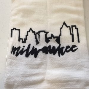 Milwaukee Black Skyline Towel