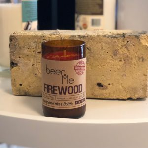 Beer Me Firewood Candle