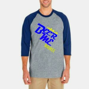 Beer Me Waukee Baseball Shirt – Blue on Gray